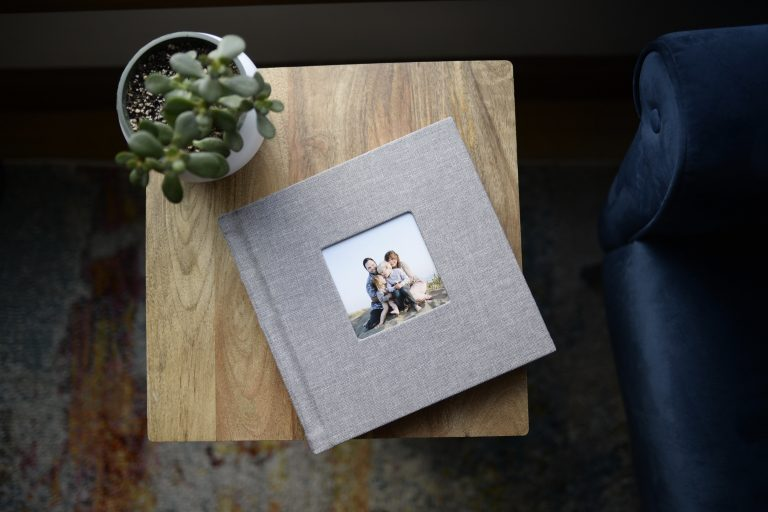 Heirloom Photo Album Family Session by Nicole Seguin Photography
